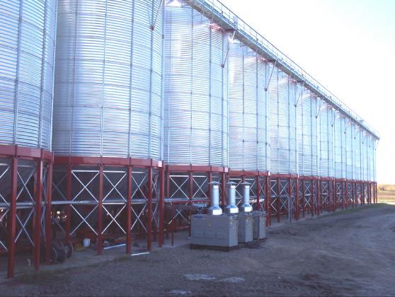drying grain central heating modules - DryAir Manufacturing