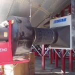 aeration fan and dryair heat exchanger