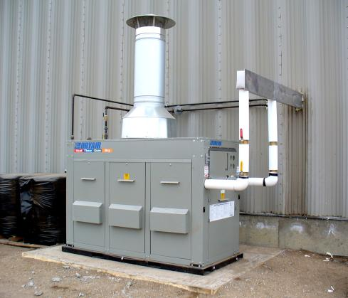 2000-1200 natural gas central heating module - DryAir Manufacturing