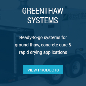 System Packages - Ready to go systems for ground thaw, concrete cure & rapid drying applications