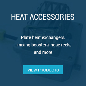 Heat Accessories - Plate heat exchangers, mixing boosters, hose reels, and other accessories