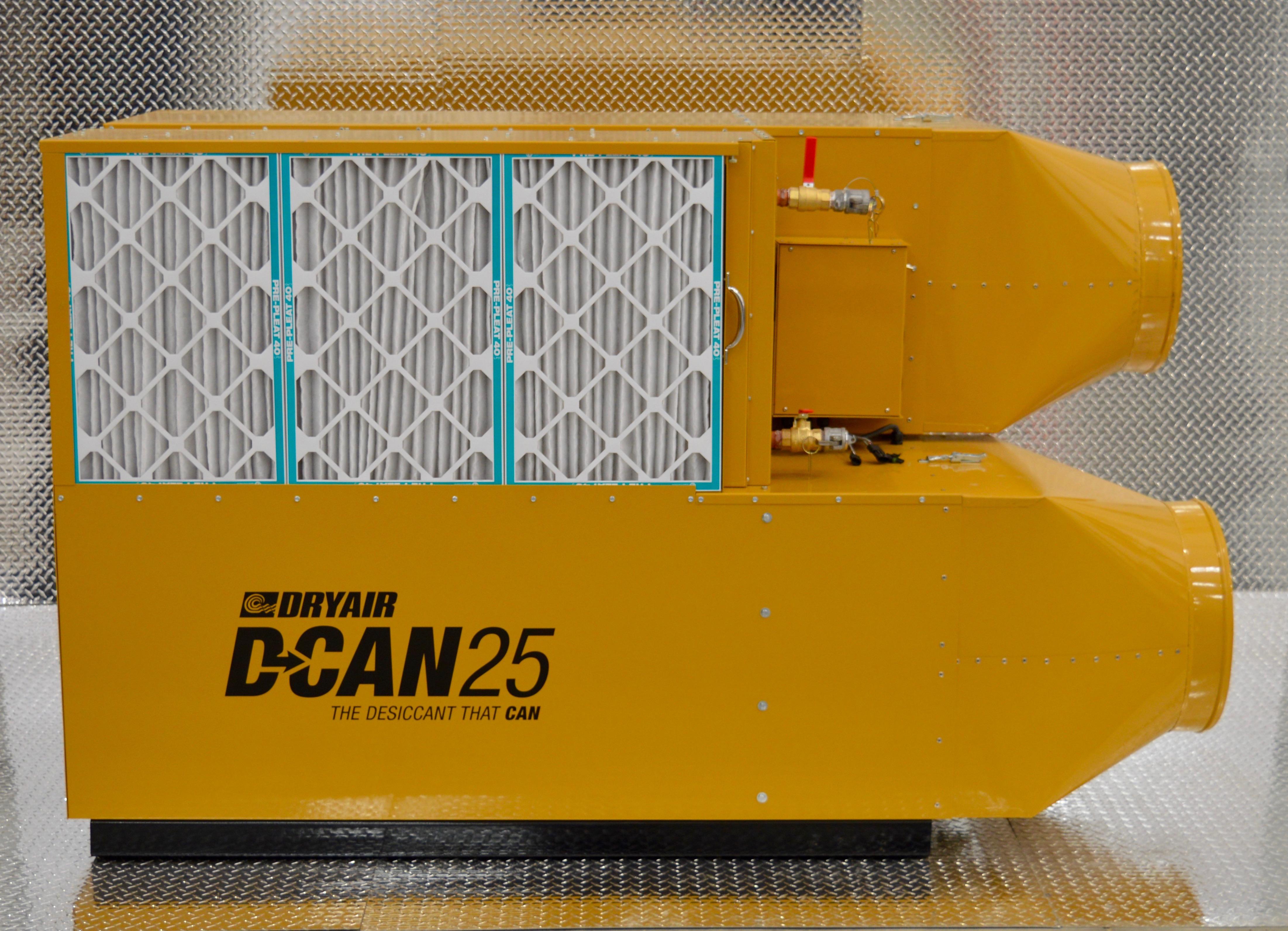 D Can 25 Desiccant Dehumidifier Dryair Manufacturing